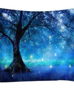 Blauer Wandbehang