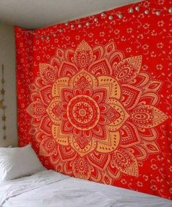 Rotes Mandala Wandbehang